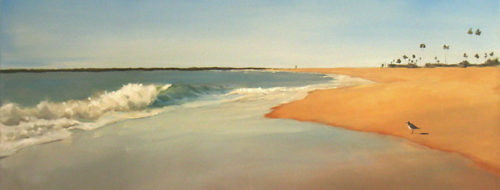 Seagull and Wave - Oil on Canvas