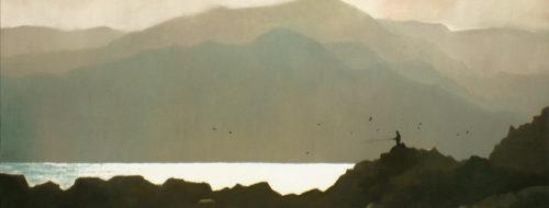 Manazuru Gold - Oil on Canvas