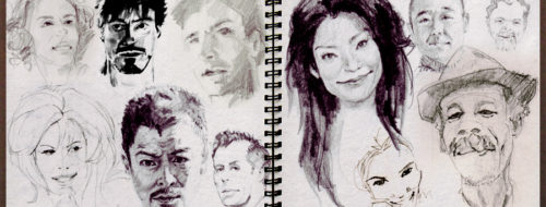 Famous Faces - Pencil and Ink